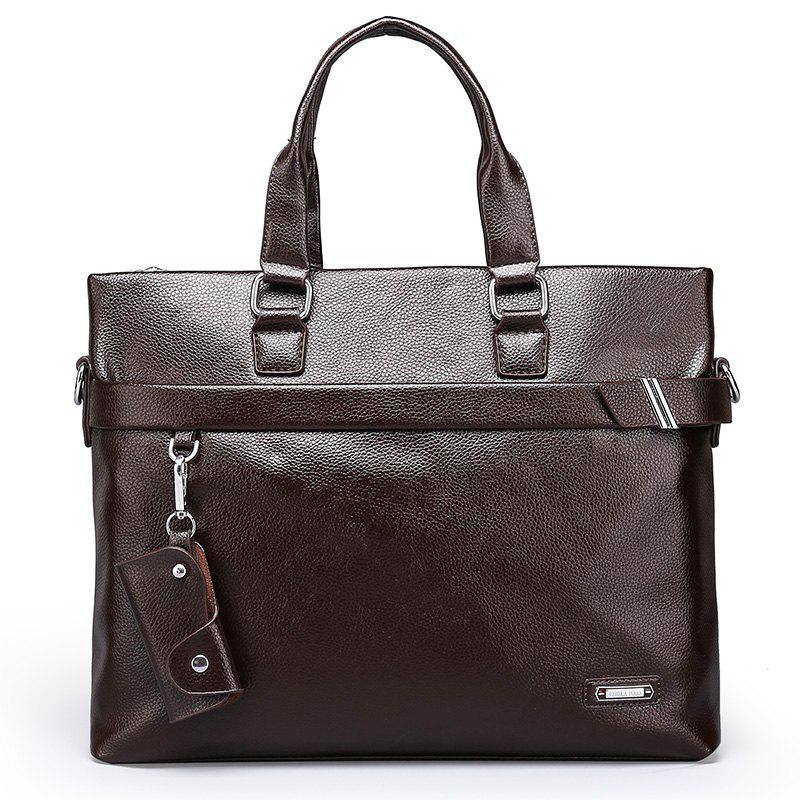 New Men's Casual Pendant Handbag - BROWN