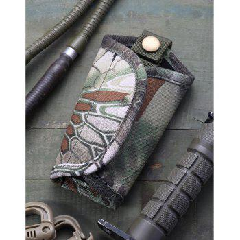 Python Pattern Camouflage Mute Keychain Canvas Oxford Waist Hanging Large-Volume Car Army Fan Tactical Key Bag - TERRAIN CAMOUFLAGE