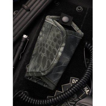 Python Pattern Camouflage Mute Keychain Canvas Oxford Waist Hanging Large-Volume Car Army Fan Tactical Key Bag - PYTHON MUTE BLACK