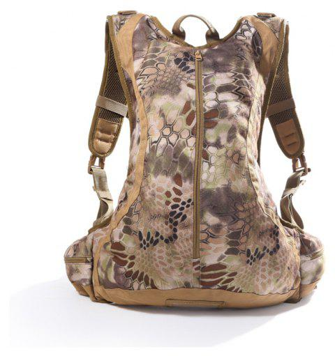 Outdoor Waterproof Riding Hiking Python Camouflage Multi-Functional Commando Tactical Backpack - PYTHON WALL SNAKE MUD