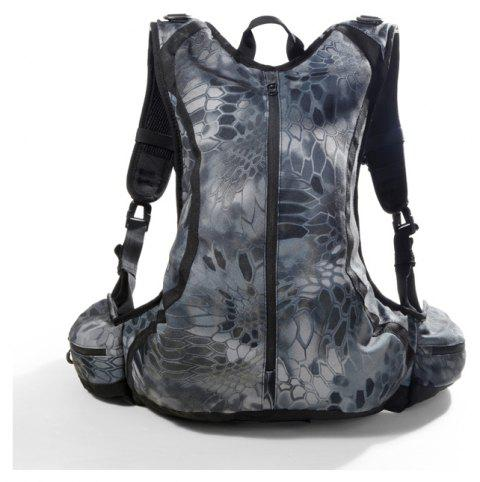 Outdoor Waterproof Riding Hiking Python Camouflage Multi-Functional Commando Tactical Backpack - PYTHON MUTE BLACK