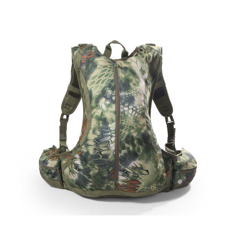 Outdoor Waterproof Riding Hiking Python Camouflage Multi-Functional Commando Tactical Backpack - JUNGLE CAMOUFLAGE
