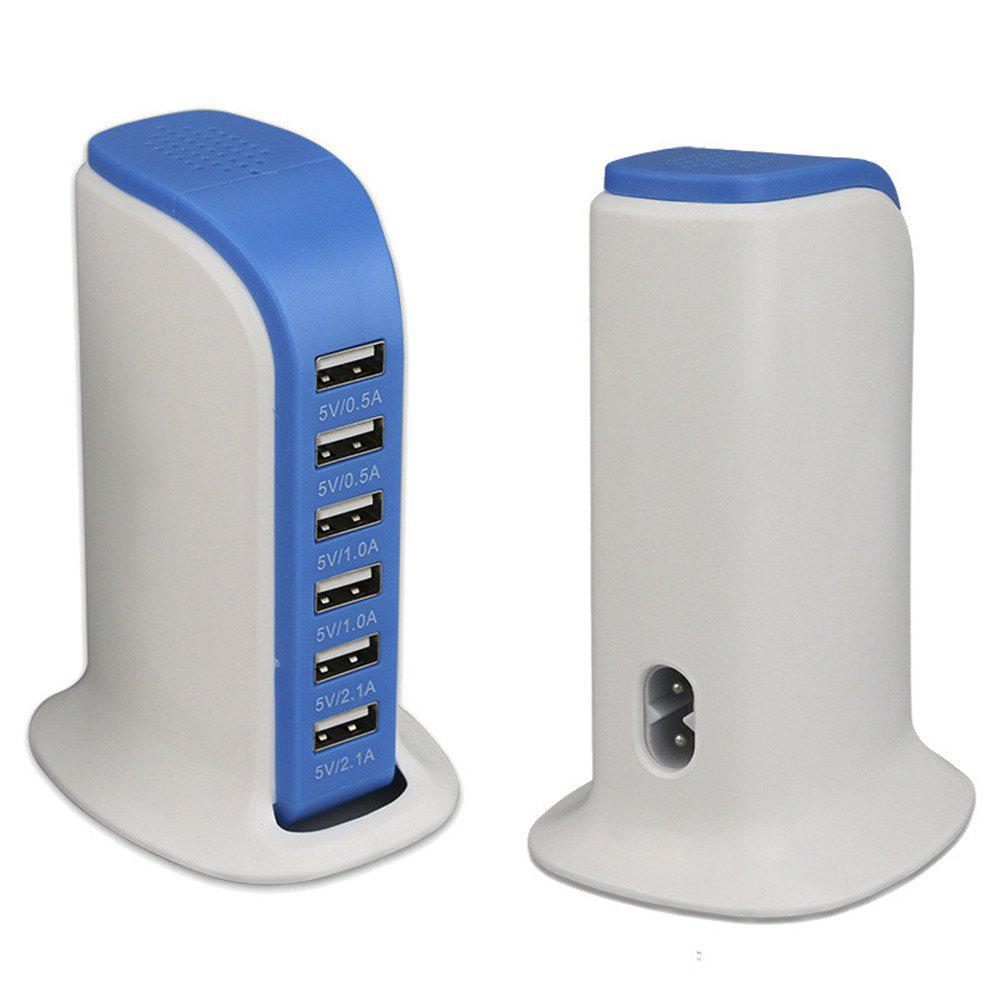 Multi-Functional 6 USB Ports Charger - BLUE