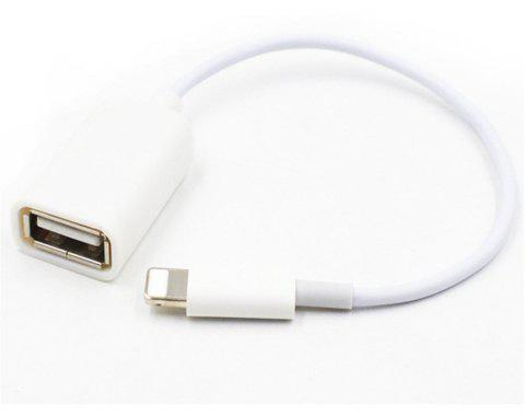 OTG Adapter Cable for iPhone Mobile Phone - WHITE