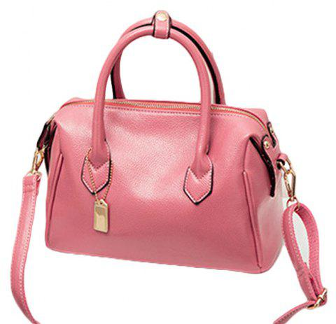Women Fashion Handbags PU Leather Shoulder Messenger Tote Bags - PINK