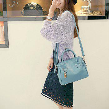 Women Fashion Handbags PU Leather Shoulder Messenger Tote Bags - BLUE