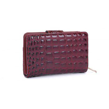 Women's Purse Crocodile Print Classical Style All Match Bag - RED