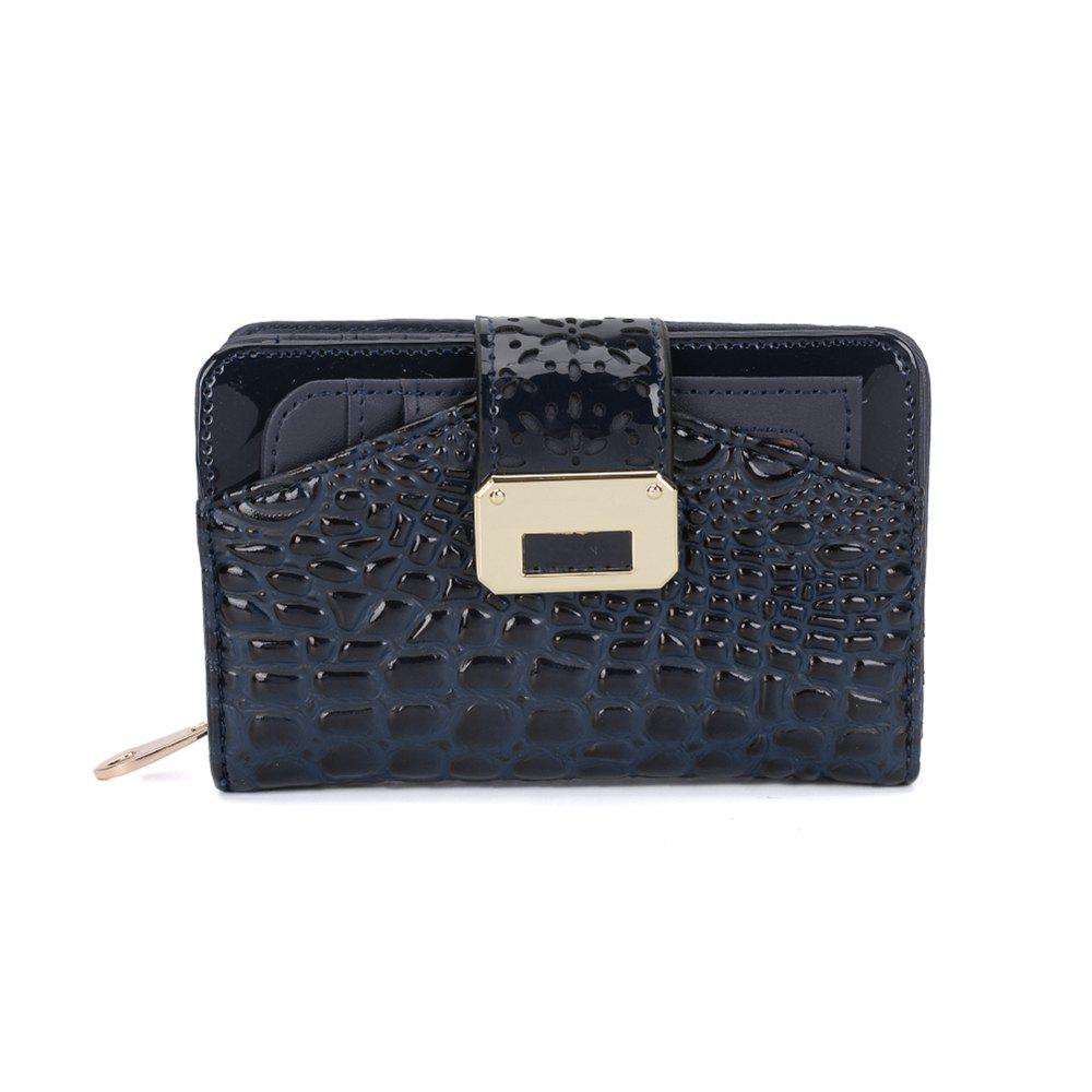 Women's Purse Crocodile Print Classical Style All Match Bag - BLUE