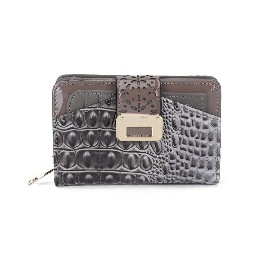 Women's Purse Crocodile Print Classical Style All Match Bag - GRAY