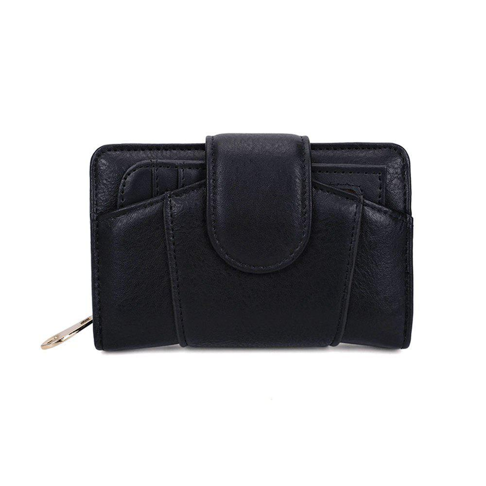 Women's Wallet Graceful Sweety Short Pattern Ladylike Chic Stylish Bag - BLACK