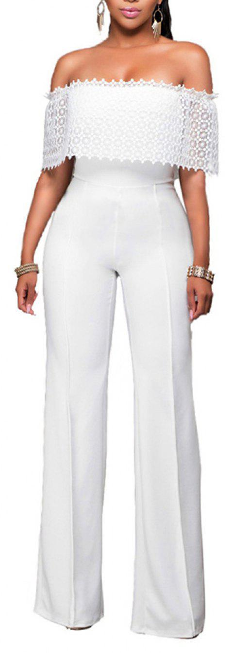 Fashion Loose Casual Jumpsuit - WHITE XL