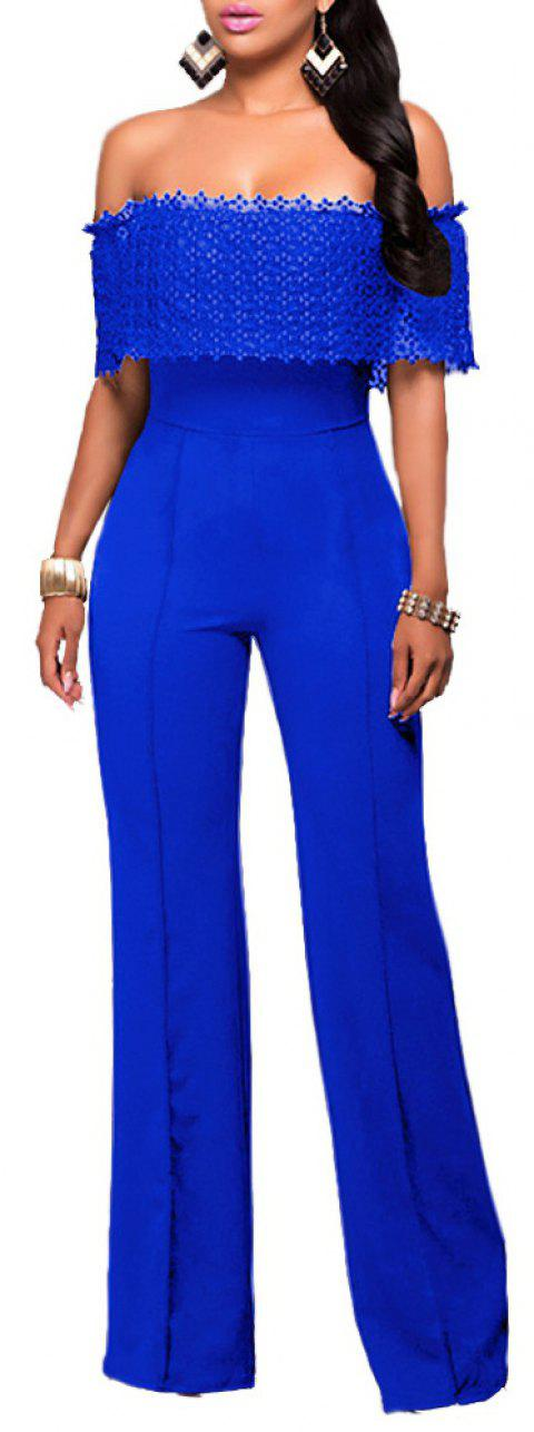 Fashion Loose Casual Jumpsuit - BLUE L
