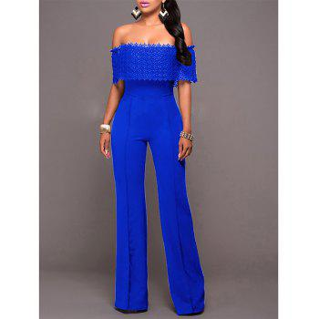 Fashion Loose Casual Jumpsuit - BLUE M