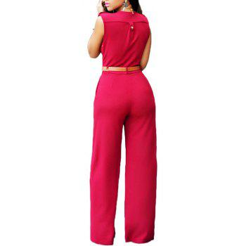 Fashion Loose Slim Casual Jumpsuit - RED L