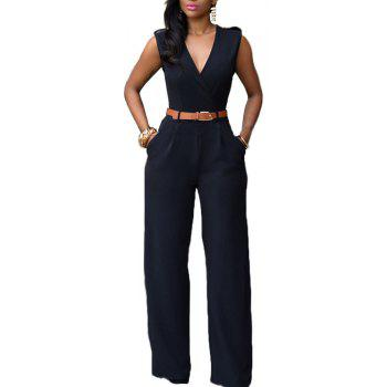 Fashion Loose Slim Jumpsuit Casual - Noir XL