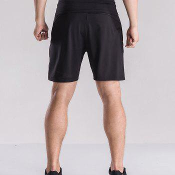 Men's Loose Fit Sweat-Absorbent Breathable Sports Shorts - BLACK L