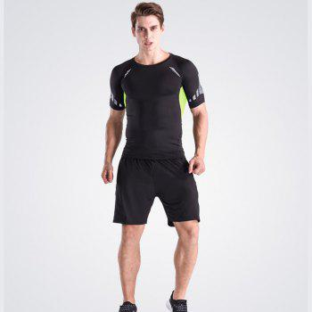 Men's Loose Fit Sweat-Absorbent Breathable Sports Shorts - BLACK 2XL