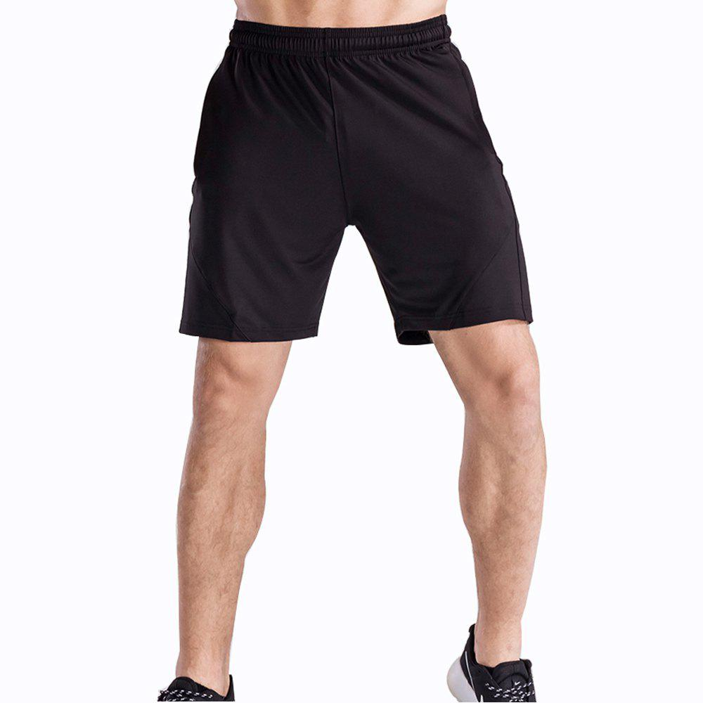 Men's Loose Fit Sweat-Absorbent Breathable Sports Shorts - BLACK M