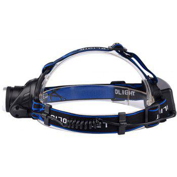Outdoor Head Lamp High-Power Charging Long Shots Miners And LED Light Mini - BLUE/BLACK