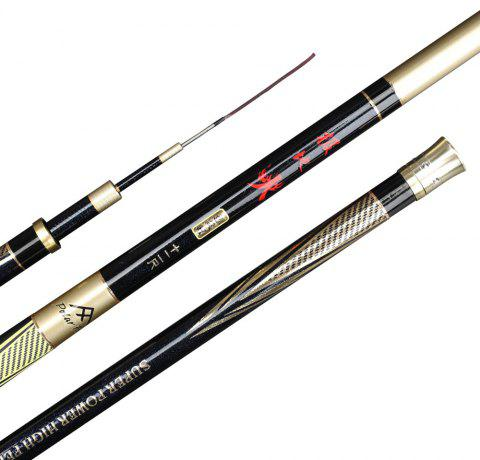 Polarfire DYG301 Outdoor Fishing Gear Carbon Paint 3.6 Meters 4.5 Meters 5.4 Meters Telescopic 28 Fishing Rod - GOLDEN 4.5 METERS