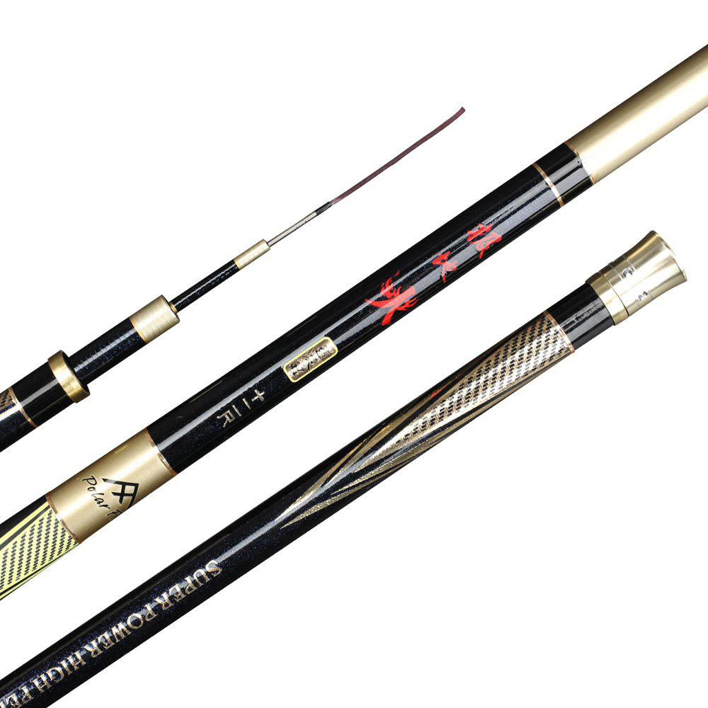 Polarfire DYG301 Outdoor Fishing Gear Carbon Paint 3.6 Meters 4.5 Meters 5.4 Meters Telescopic 28 Fishing Rod - GOLDEN 3.6 METERS