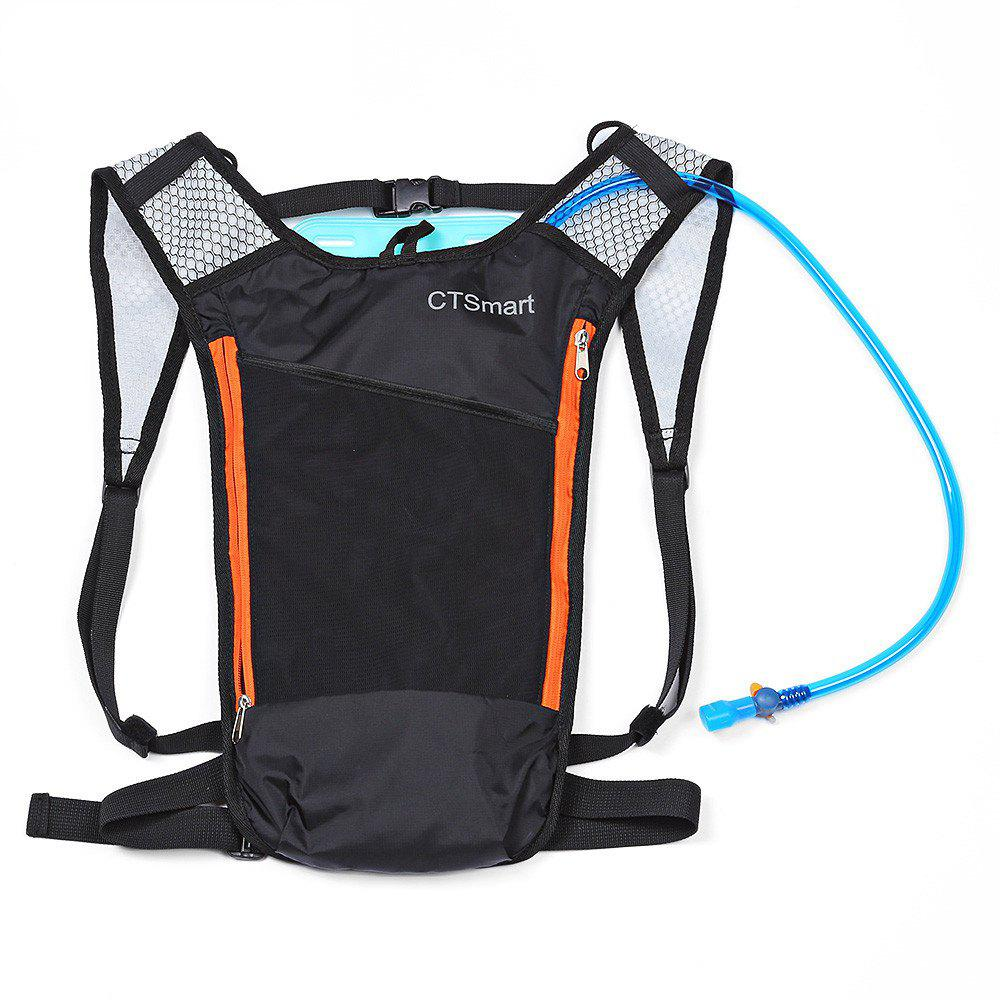 CTSmart 5L Outdoor Hydration Backpack with Water Bladder - ORANGE