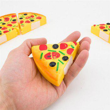 Children Kids Kitchen Pizza Party Fast Food Slices Cutting Pretend Play Food Toy - YELLOW