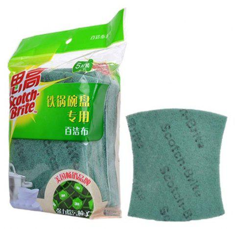 3M Cleaning Cloth for Iron Pot Bowl 5Pcs - GREEN