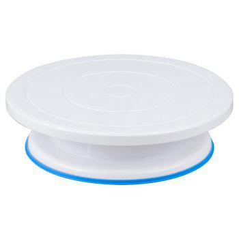 10 Inch Anti Skid Cake Decoration Turntable Stand Rotary Plate - WHITE