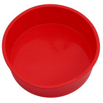 Red Round Silicone Cake Baking Mold Pan DIY Tray - RED