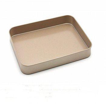 Nonstick Bakeware Rectangular Cake Baking Roasting Pan Tray - GOLDEN