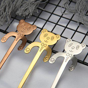 Stainless Steel Spoon Cute Cartoon Handle Coffee Bear - ROSE GOLD 11.8X2CM