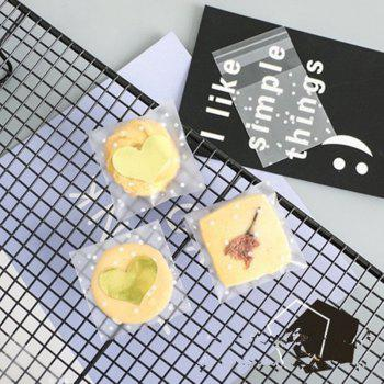 Self Sealed Biscuit Bag Self Sticky Bag Egg Yolk Crisp and Cookie Thickened 100 - CLEAR WHITE 7.7X7.7CM