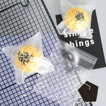 Self Sealed Biscuit Bag Self Sticky Bag Egg Yolk Crisp and Cookie Thickened 100 - CLEAR WHITE 10X10CM