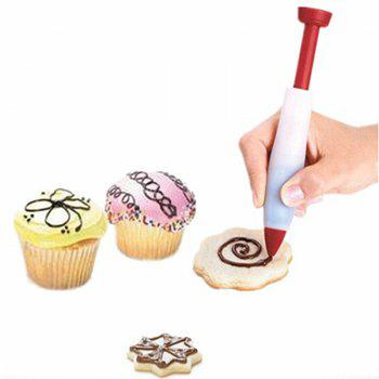 Decorative Silicone Chocolate Food Decorating Cake Pen Tool - RED 13.5X10.2X3CM