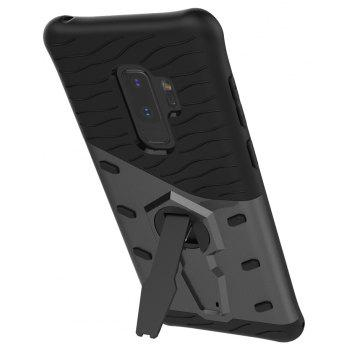 Case for Samsung Galaxy S9 Plus Shockproof with Stand 360 Rotation Back Cover Contrast Color Hard PC - GRAY