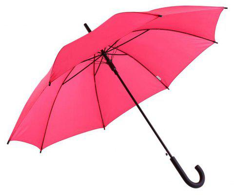 Classic Auto-Open Windproof Rain Umbrella Large Stick Crook Umbrella - PINK 60 X 4 X 2 CM