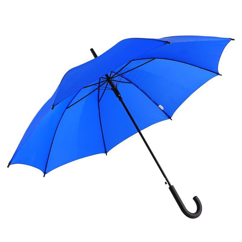 Classic Auto-Open Windproof Rain Umbrella Large Stick Crook Umbrella - BLUE 60 X 4 X 2 CM