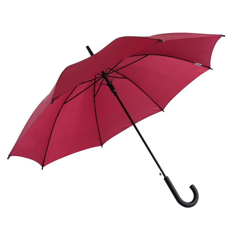 Classic Auto-Open Windproof Rain Umbrella Large Stick Crook Umbrella - RED 60 X 4 X 2 CM