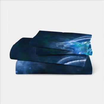 Moonlight Star Capricorn Series Three or Four Pieces Bedding Set AS20 - BLUE SINGLE