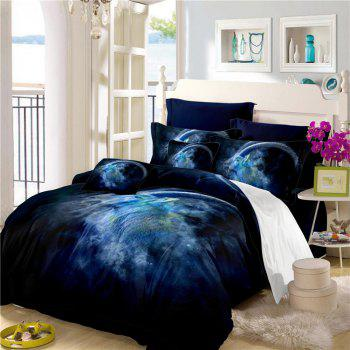 Moonlight Star Capricorn Series Three or Four Pieces Bedding Set AS20 - BLUE EURO KING