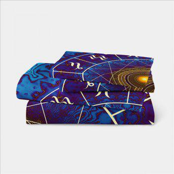 Star Palace Compass Series Three or Four Pieces Bedding Set AS21 - BLUE KING