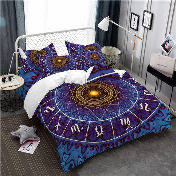 Star Palace Compass Series Three or Four Pieces Bedding Set AS21 - BLUE CALIFORNIA KING