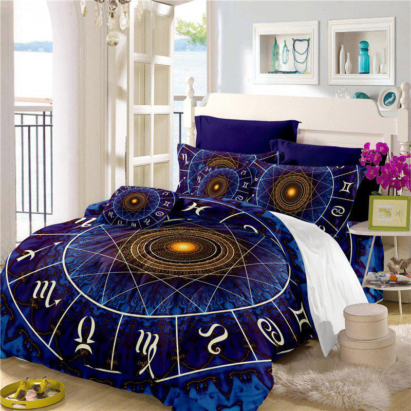 Star Palace Compass Series Three or Four Pieces Bedding Set AS21 - BLUE EURO KING