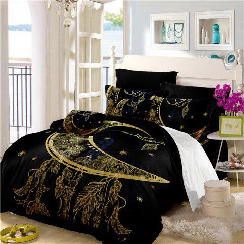 The Universe Series Pendant Three Piece Bedding and Four Sets of AS22 - BLACK GOLD QUEEN