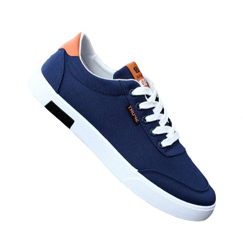 Men Fashion All-Match Low-Top Shoes - BLUE 41
