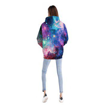 New Galaxy 3D Print Hoodies Fashion Pocket Palace Hoodie  for Women - COLOUR XL