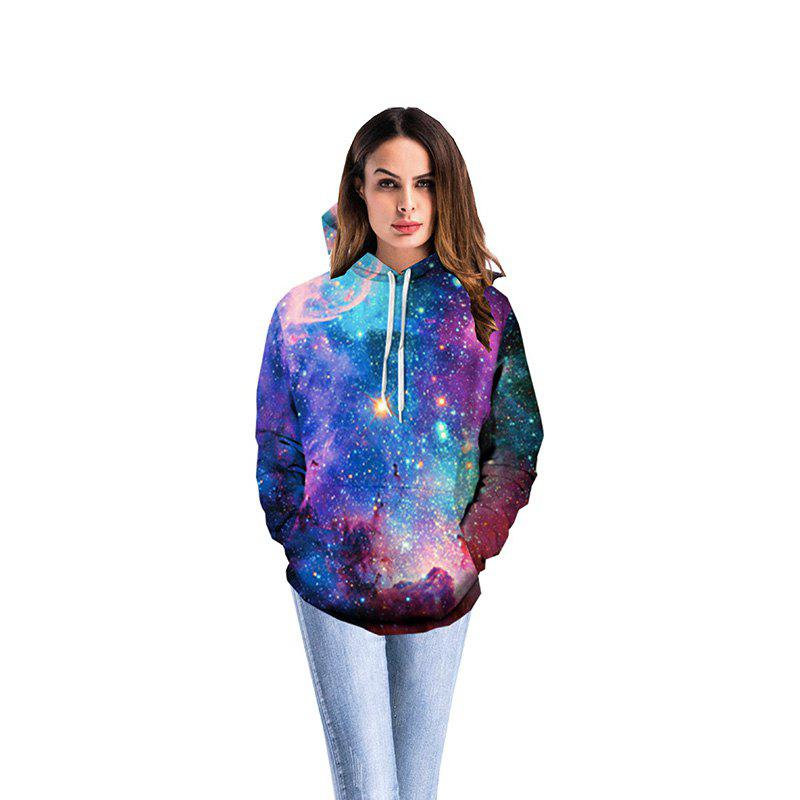 New Galaxy 3D Print Hoodies Fashion Pocket Palace Hoodie  for Women - COLOUR 3XL