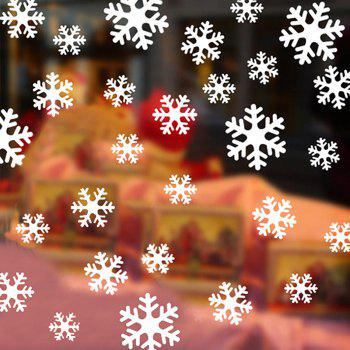 Snowflake  Window Decorative Glass Door Stickers Affixed Static Sticker - WHITE