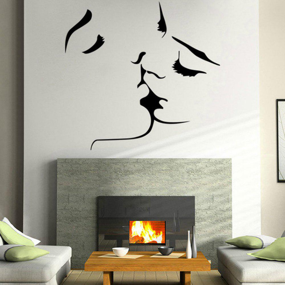 Couple Kissing Family Abstract Background Bedroom Living Room Decoration Creative Wall Sticker iminovo simple led wall lamp bedside light aisle modern living room bedroom balcony corridor staircase european creative light